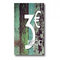 Panneau PVC 3€, 20x35cm