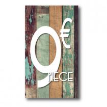 Panneau PVC 9€, 20x35cm