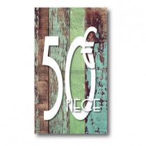Panneau PVC 50€, 20x35cm