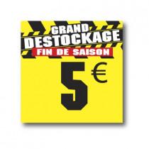 Panneau PVC 5€, 25x25cm