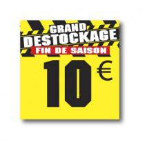 Panneau PVC 10€, 25x25cm