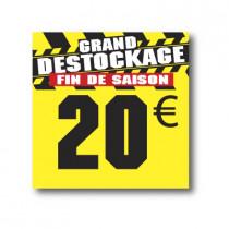 Panneau PVC 20€, 25x25cm