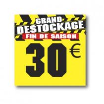 Panneau PVC 30€, 25x25cm