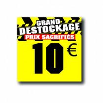 Panneau PVC 10€, 20x20cm