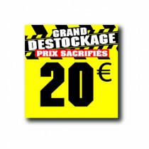 Panneau PVC 20€, 20x20cm