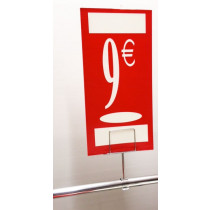 "Panneau polypro ""9€"" L19 H38 cm"