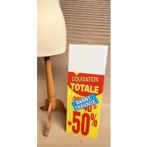 Panneau rigide LIQUIDATION TOTALE -50% Avant Travaux L30 H80 cm avec chevalet arriere