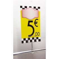 Panneau PVC 5€, 20x35cm