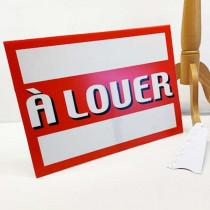 """Panneau à poser """"A LOUER """" L55 H40 cm"""