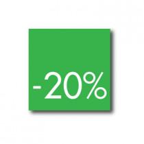 Affiche 20%  L40 H40cm.