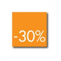 Affiche 30%  L40 H40cm.