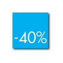 Affiche 40%  L40 H40cm.