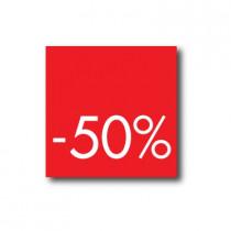 Affiche 50%  L40 H40cm.