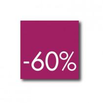 Affiche 60%  L40 H40cm.