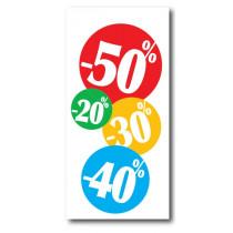 """Affiche """"20%30%40%50%"""" L40 H82 cm"""