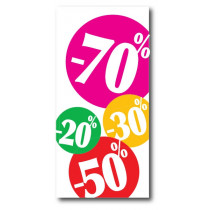 """Affiche """"20%30% 50%70%"""" L40 H82 cm"""