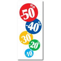 """Affiche """"10%20%30% 50%"""" L60 H140 cm"""