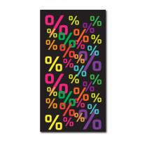 """Affiche """"%%%%%"""" L40 H74 cm"""
