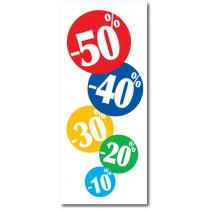 """Affiche """"-10%20%30%40%50%"""" L80 H165 cm"""