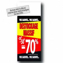 """Panneau """"DESTOCKAGE 70%"""" L30 H80 cm"""