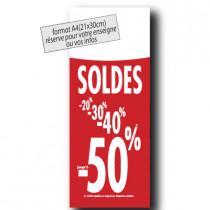"""Panneau """"SOLDES""""  L30 H80 cm"""