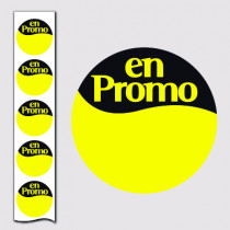 "1000 Stickers ""En promo"" 40 mm"