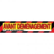 """Affiche """"AVANT DÉMÉNAGEMENT"""" L85 H17 cm"""