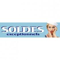 """Sticker adhésif """"SOLDES"""" L100 H25 cm"""