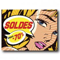 """Sticker adhésif """"SOLDES"""" L95 H70 cm"""