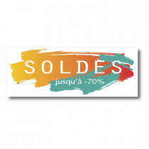 """Sticker adhésif """"SOLDES"""" L80 H30 cm"""