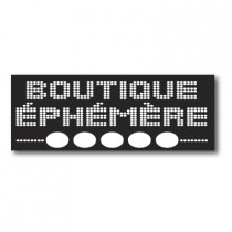 "Sticker adhésif ""BOUTIQUE EPHEMERE"" L80 H30 cm"