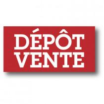 "Sticker adhésif ""DEPOT VENTE"" L80 H40 cm"