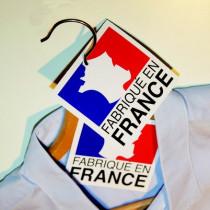 """Paquet de 50 étiquettes carton  """"FABRIQUÉ EN FRANCE"""" L90 H90 mm"""