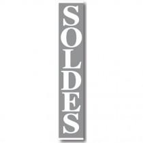 """Affiche """"SOLDES"""" L30 H168 cm"""