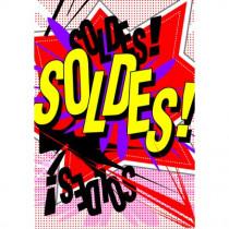"""Panneau """"SOLDES"""" L70 H100 cm"""