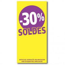 """Affiche """"SOLDES -30%"""" L56 H115 cm"""