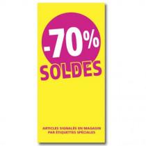 """Affiche """"SOLDES -70%"""" L56 H115 cm"""