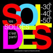 """Sticker pour table IKEA Lack """"SOLDES"""" L55 H55 cm"""