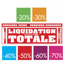 kit de 7 affiches LIQUIDATION TOTALE