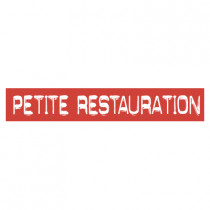 "STICKER satiné L60 H10 cm ""PETITE RESTAURATION"""