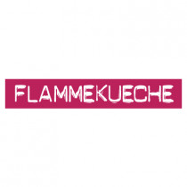 "STICKER satiné L60 H10 cm ""FLAMMKUECHE"""