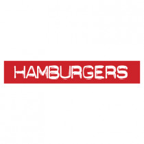 "STICKER satiné L60 H10 cm ""HAMBURGERS"""