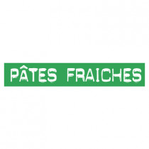 "STICKER satiné L60 H10 cm ""PATES FRAICHES"""
