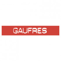 "STICKER satiné L60 H10 cm ""GAUFRES"""