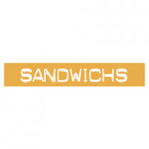 "STICKER satiné L60 H10 cm ""SANDWICHS"""