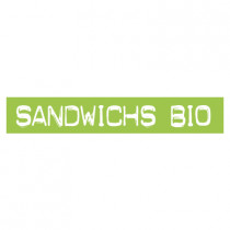 "STICKER satiné L60 H10 cm ""SANDWICHS BIO"""