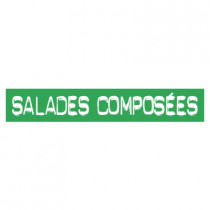 "STICKER satiné L60 H10 cm ""SALADES COMPOSEES"""