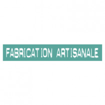 "STICKER satiné L60 H10 cm ""FABRICATION ARTISANALE"""