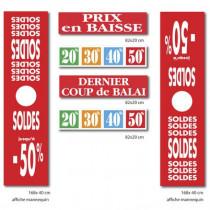 """Le kit de 6 affiches """"SOLDES"""" 04"""