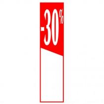"""Affiche """"- 30%"""" L40 H165 cm"""